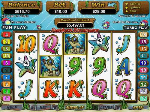 Sunken Treasure Big Bonus Slots