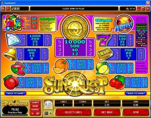 Sunquest review on Big Bonus Slots