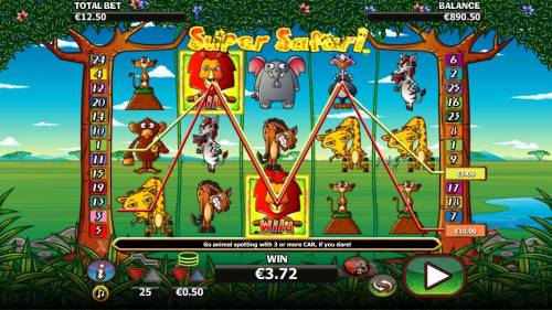 Super Safari Big Bonus Slots Multiple winning paylines