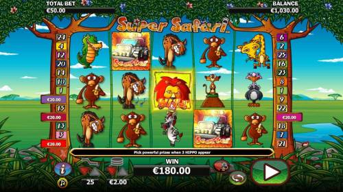 Super Safari review on Big Bonus Slots