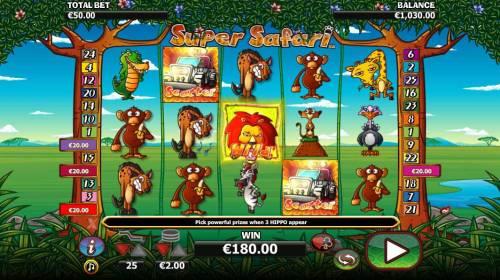 Super Safari review on Big Bonus Slots