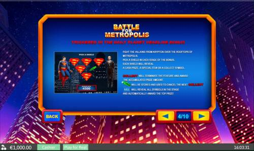 Superman II review on Big Bonus Slots