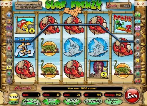 Surf Frenzy review on Big Bonus Slots
