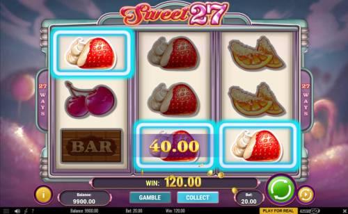 Sweet 27 review on Big Bonus Slots