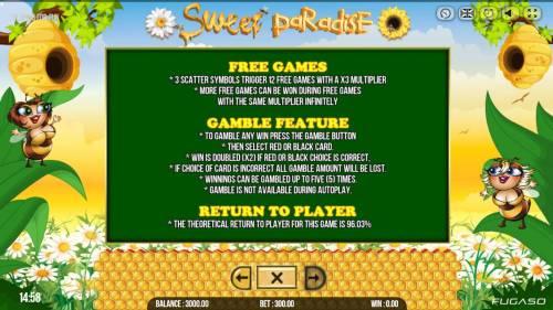 Sweet Paradise review on Big Bonus Slots