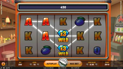 Swipe and Roll review on Big Bonus Slots