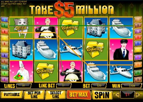 Take $5 Million review on Big Bonus Slots
