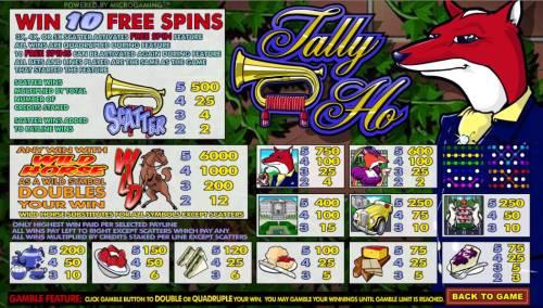 Tally Ho review on Big Bonus Slots