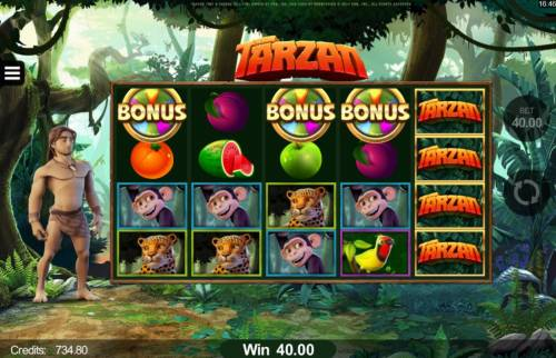 Tarzan review on Big Bonus Slots
