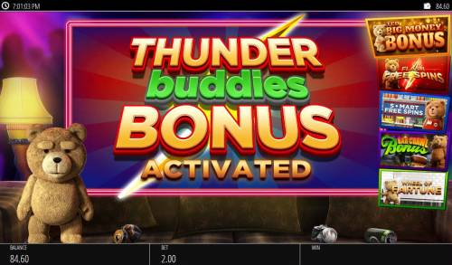 Ted Big Bonus Slots Bonus feature activated.