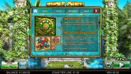 Temple Quest Spinfinity review on Big Bonus Slots