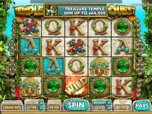 Temple Quest review on Big Bonus Slots