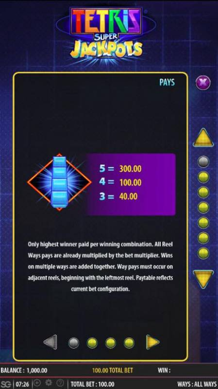 Tetris Super Jackpots review on Big Bonus Slots