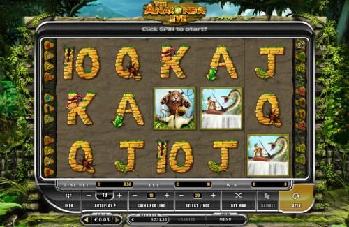 The Anaconda Eye Big Bonus Slots Main Game Board