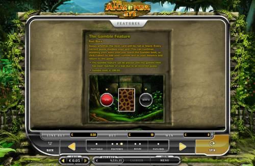 The Anaconda Eye Big Bonus Slots Gamble Feature Rules