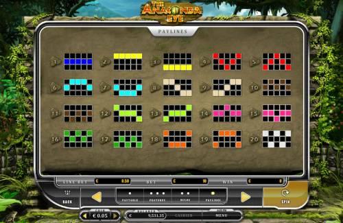 The Anaconda Eye Big Bonus Slots Paylines 1-20