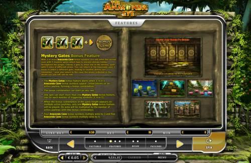 The Anaconda Eye Big Bonus Slots Bonus Feature Rules