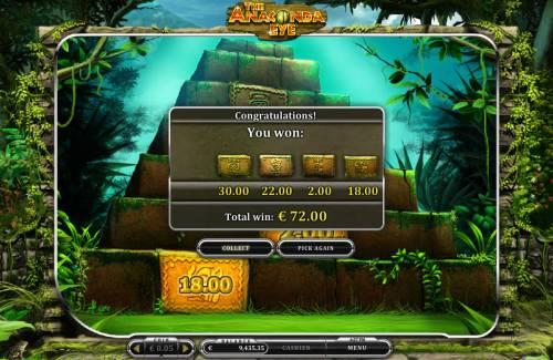 The Anaconda Eye Big Bonus Slots Total Bonus Payout