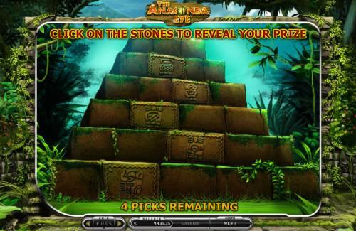 The Anaconda Eye Big Bonus Slots Pick blocks to reveal prizes