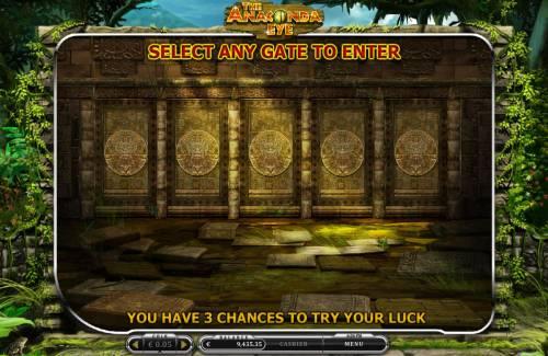 The Anaconda Eye Big Bonus Slots Bonus Feature Game Board