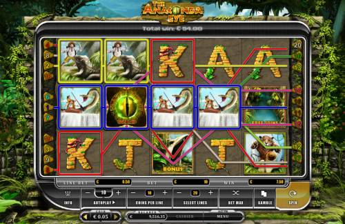 The Anaconda Eye Big Bonus Slots Multiple winning paylines