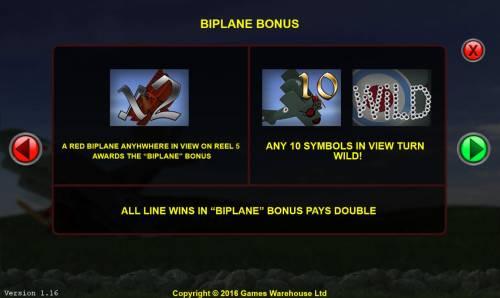 The Baron Big Bonus Slots Biplane Bonus Rules