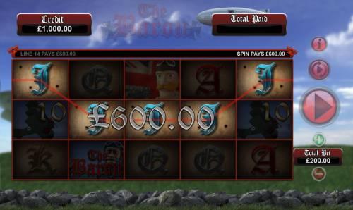 The Baron Big Bonus Slots A winning Five of a Kind