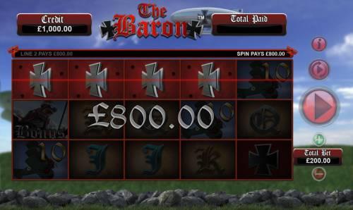 The Baron Big Bonus Slots A winning Four of a Kind