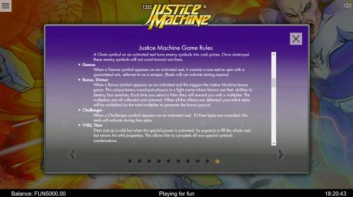 The Justice Machine review on Big Bonus Slots