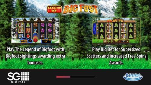 The Legend of Big Foot Big Bonus Slots Introduction