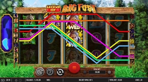 The Legend of Big Foot Big Bonus Slots Multiple winning paylines