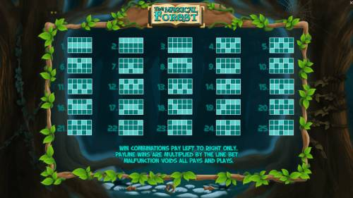 The Magical Forest Big Bonus Slots Paylines 1-25