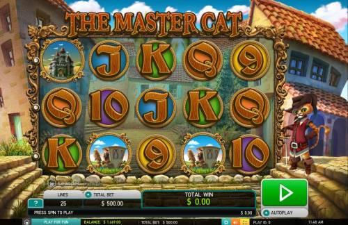 The Master Cat Big Bonus Slots Main Game Board