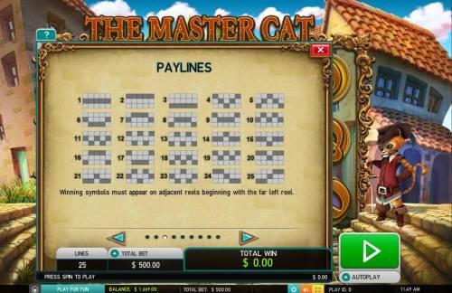 The Master Cat Big Bonus Slots Paylines 1-25