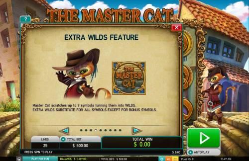 The Master Cat Big Bonus Slots Extra Wilds Feature Rules