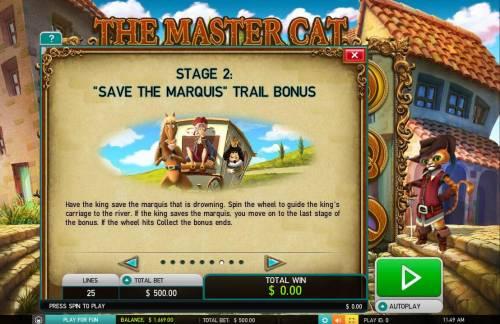 The Master Cat Big Bonus Slots Save the Marquis Trail Bonus Rules