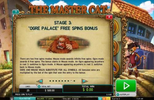 The Master Cat Big Bonus Slots Ogre Palace Free Spins Bonus Rules