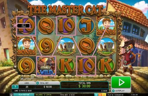 The Master Cat Big Bonus Slots A winning Four of a Kind