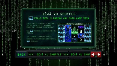 The Matrix Big Bonus Slots Deja Vu Schuffle Rules