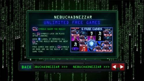 The Matrix Big Bonus Slots Nebuchadnezzar Free Games Rules