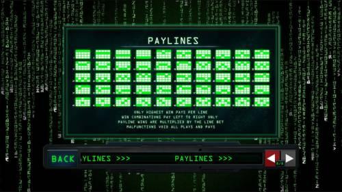 The Matrix Big Bonus Slots Paylines 1-50