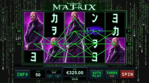 The Matrix Big Bonus Slots Multiple winning paylines triggers a big win!
