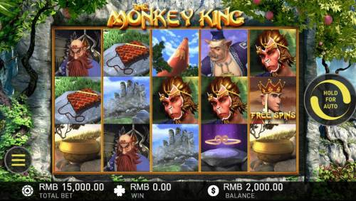 The Monkey King Big Bonus Slots Main Game Board