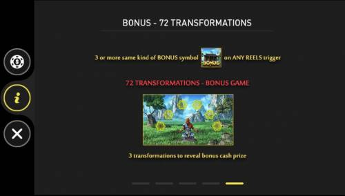 The Monkey King Big Bonus Slots 72 Transformations Bonus Game Rules