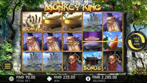 The Monkey King Big Bonus Slots A winning Three of a Kind
