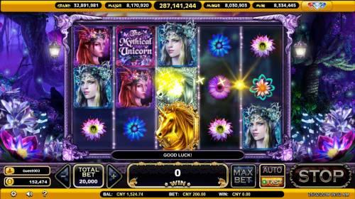 The Mythical Unicorn Big Bonus Slots Multiple winning paylines triggers a big win