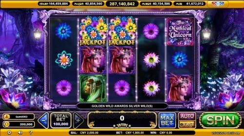 The Mythical Unicorn Big Bonus Slots Main Game Board