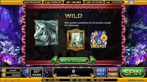 The Mythical Unicorn Big Bonus Slots Wild Symbol Rules