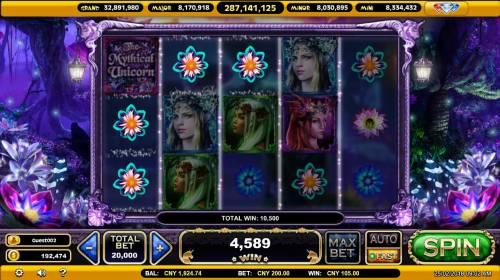 The Mythical Unicorn Big Bonus Slots Four of a kind