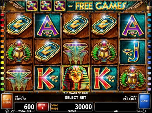 The Power of Ankh review on Big Bonus Slots